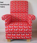Dachshunds Dogs Fabric Adult Chair Red Armchair Nursery Accent Occasional Puppy