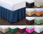 "1 SOLID BEDDING DRESSING BED PLEATED SKIRT WITH OPEN CORNERS 14"" INCH DROP"