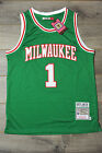 Oscar Robertson 1 Milwaukee Bucks Jersey Swingman Classics Retro New Green
