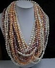 wholesale 9 X 120cm length real Freshwater pearl necklace 7-9mm free shipping