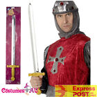 65cm King Sword Crusader Knights Knight Roman Soldier Medieval Costume Accessory