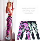 Exercise Women Pants Camouflage Bodycon Polyester High Elastic Pants Trousers BR