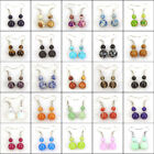 womens fashion drop dangle earrings 6mm 10mm natural gemstone stone beads