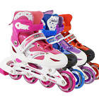 Light Up Adjustable Kids Roller Blades Inline Skates Size 12J-2 3-5 6-9