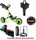 Clicgear 3.5+ Golf Push Cart - FREE EXTRAS - CHOOSE COLOR New In Box w Warranty