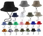 Внешний вид - Gelante Unisex 100% Cotton Bucket Hat Fish man Camping Safari Boonie Sun Summer