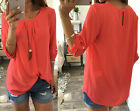 Kyпить Fashion Women's Ladies Summer Long Sleeve Shirt Loose Casual Blouse Tops T-Shirt на еВаy.соm