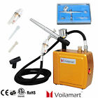 Air Brush Dual Action Spray Gun Gravity Feed Airbrush Compressor Hose Paint Kit