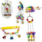 Pet Bird Swing Toy Parrot Rope Harness Cage Hang Toys Parakeet Cockatiel Budgie
