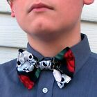 Skull and Roses Bow Tie Sugar Skull Goth Gothic bowtie Tuxedo Grad Dad Gift