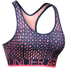 Under Armour Womens Shatter Print Pink Mid-Impact Padded Sports Bra NWT