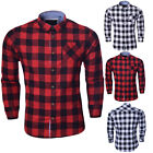 Mens Flannel Pure Cotton Brave Soul Long Sleeve Check Casual Shirt Size S M L XL