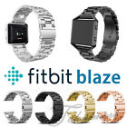 Stainless Steel Watch Strap Metal Wristwatch Band For Fitbit Blaze Tracker Bands