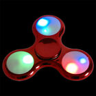 LED Fidget Spinner Metallic Turbo Hand ADHS Anti Stress Konzentration Spielzeug