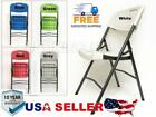New Indoor Outdoor Folding Plastic Utility chair Metal Frame Tall Back Long-life