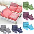 6PC Travel Luggage Organizer Set Backpack Storage Pouches Suitcase Packing Bags