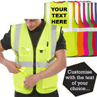 Personalised Hi Vis Executive Vest Zip With ID Phone Pockets Hi Viz Vest + PRINT