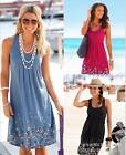 Casual  Pregnant Dress Summer Women Maternity no Sleeves Plus Size Clothes sale