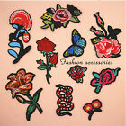 Red Rose Flower Embroidery Applique Cloth DIY Sewing & Iron on Patch Badge US