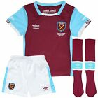 West Ham Home Kit Shirt and Shorts & Socks Childrens 100% Official  11-12 Years