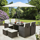 Rattan Cube Dining Table Garden Furniture Patio Set