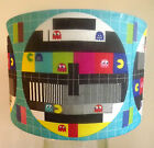 Retro Gaming Lamp shade,lampshade TV test card retro funky Pacman Free Gift