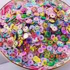 1000pcs 13.4g Multi Mixed Colors 6mm Embossed Round Loose Sequins Beads Aaa