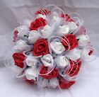 Wedding - Red & White Shimmer Bouquet Packages - available in 47 other Colours