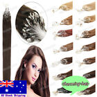 """Micro Ring Beads Loop Tip Indian Remy Human Hair Extensions 18""""20""""22"""" 0.5G/S AU"""