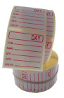 Food Labels, Prepared Food Labels 500 or 1000 On A Roll In RED 36mm x 36mm
