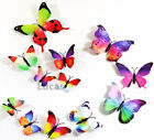 12 pcs 3D Butterfly Wall Stickers Art Decal Home Room Decorations Decor Kids UK