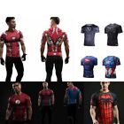 Men's Compression DC Marvel Superhero Tee T-Shirt Sport Jersey Base Short Sleeve image