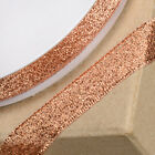 Rose Quartz Gold 12mm Lurex Metallic Ribbon - Cake Decorating Christmas Gifts