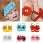 Colourful Foot Flower Barefoot Sandals Headband Baby Girl Gift Accessories