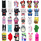 3D Cute Animals Cartoon Soft Silicone Case Cover Back For Huawei P8 P9 Lite 2017