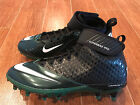 NEW Nike Lunar Super Bad Pro TD Football Cleats Black/Green 534994 Men's Size 14