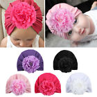 Cute Newborn Baby Girls Infant Big Flower Soft Cotton Hospital Cap Beanie Hat