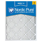 16x20x1 Air Filter Furnace Merv 12 13 Pleated Electrostatic 8 Nordic Pure 11 A/C