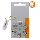 Power Special Size 13 Zinc Air Hearing Aid Batteries (PR48) +2 bonus in Keychain