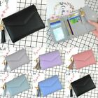 Ladies Womens PU Leather Card Holder Wallet Button Small Mini Purse bag