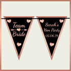 * Personalised TEAM BRIDE Wall BUNTING BANNER - Hen Night Party Tribe decoration