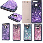 New Cool Black Glitter Moving Stars Liquid Quicksand Back  Case For Cell Phones