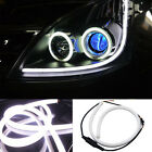 2x 45/60cm LED Switchback DRL Strip Light Sequential Daytime Running Turn Signal