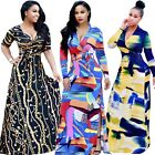 Womens Plus Size Dashiki Traditional Graffiti Print African Ball Gown Maxi Dress