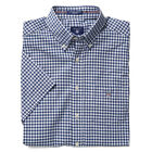 GANT Shirt Short Sleeve Poplin Check - Persian Blue