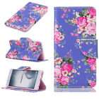 Flip Stand Leather PU Soft Pattern Wallet Card Case Cover For LG Huawei Motorola