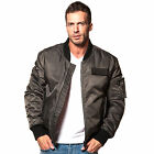 883 Police Mens Shade Gun Metal Side Pocket Classic Bomber Jacket