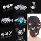 5pcs Crystal Flower Pearl  Hair Pin Hair Clips Bride Party Wedding Accessories