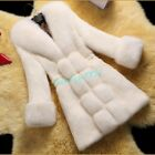 Women Faux Fur Parka Winter Trench Coat Slim Fit Jacket Casual Outwear Chic New
