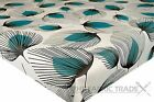 WIPE CLEAN FLORAL TEAL WHISPER PVC TABLECLOTH VINYL OILCLOTH FABRIC